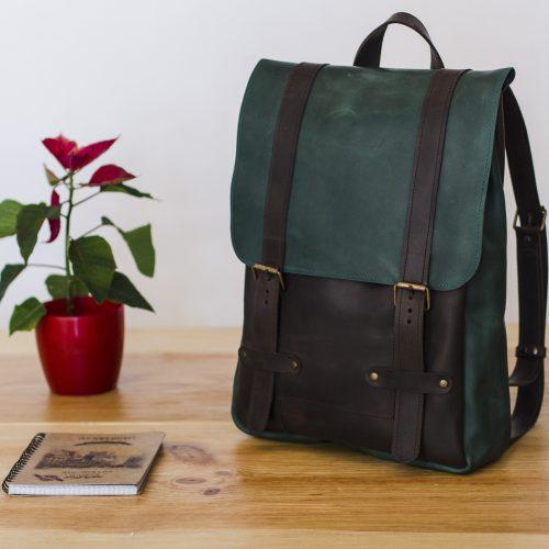 """Рюкзак коричнево-зеленый """"Коламбус"""""""