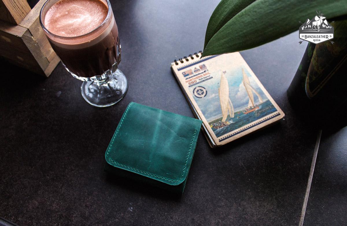 кошелек зеленый 113