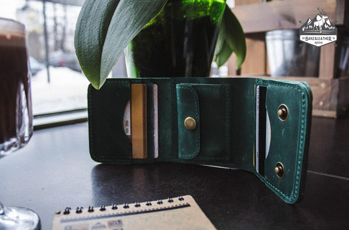 "кошелек зеленый ""Стэмфорд"""